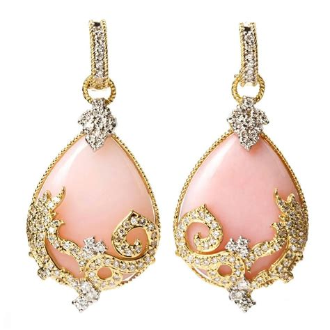 photo of boca raton fl united stambolian pink opal gold drop earrings for sale