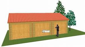 Garage Pour Voiture : garage pour triples voiture en madriers massif bois ~ Voncanada.com Idées de Décoration