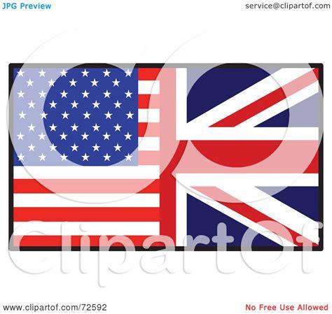 royalty  rf clipart illustration    american  british flag  maria bell