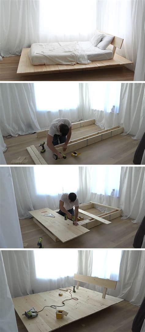 diy modern wood platform bed contemporist