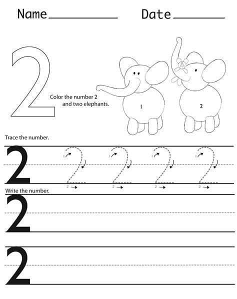 number 2 worksheets for preschoolers writing numbers worksheets printable activity shelter 708
