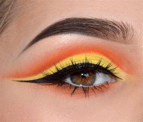 cut crease makeup  brown eyes eyemakeuporange