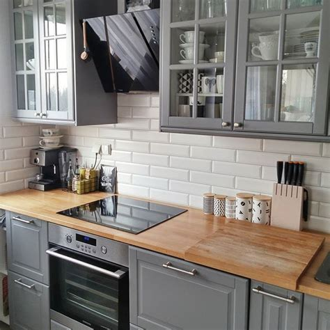 ikea kitchen cabinet ideas bodbyn ikea gray lower cabinets kitchen