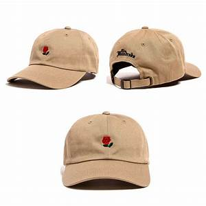 The Hundreds Dad Hat Rose Flower Embroidered Curved Brim ...