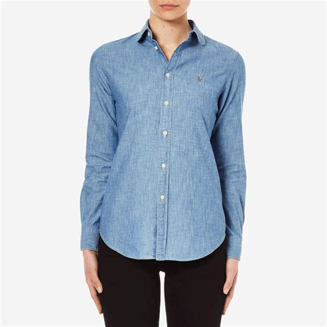 Polo Ralph Lauren Womenu0026#39;s Harper Shirt - New Rinse - Free UK Delivery over u00a350