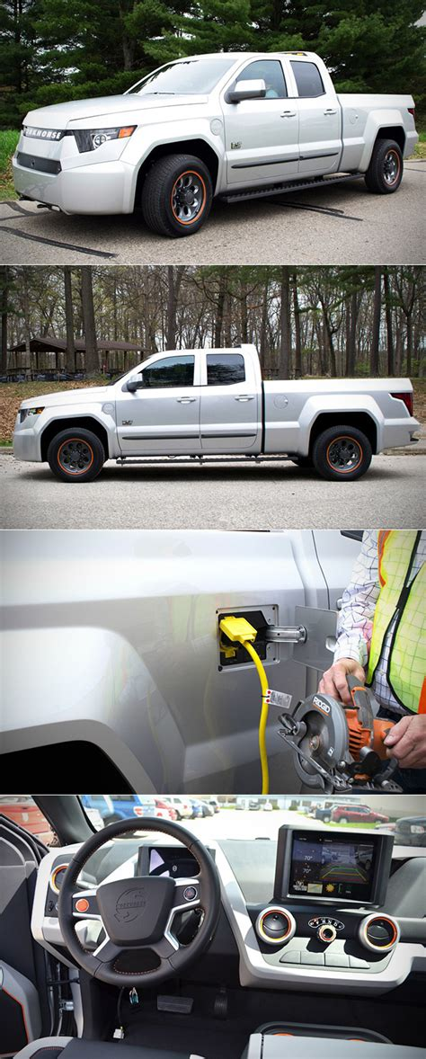 workhorse electric pickup truck workhorse w 15 is world s first electric pickup does 0 60