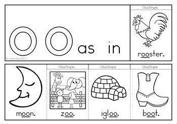 digraph vowel team oo phonics word work multiple
