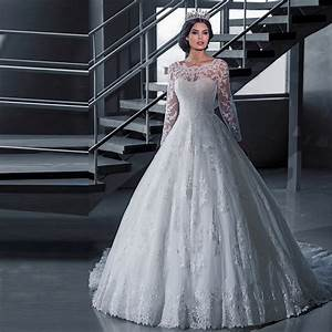 2016 luxury vintage long sleeves wedding dresses ball gown With princess ball gowns wedding dresses