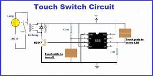 Touch Switch Circuit Using Timer Ic 555