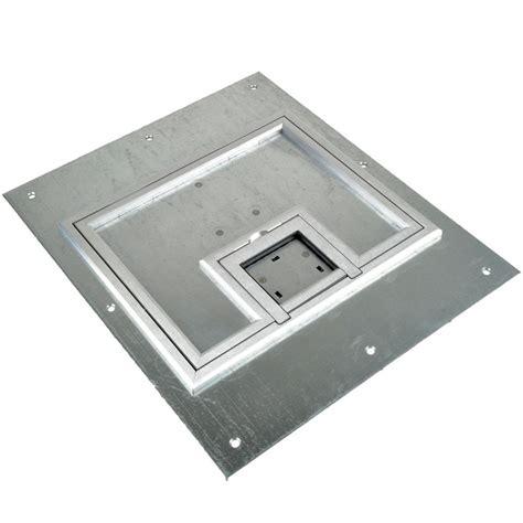 fsr floor boxes fl 500p fsr fl 500p slp c ul cover w 1 4 quot aluminum flange lift