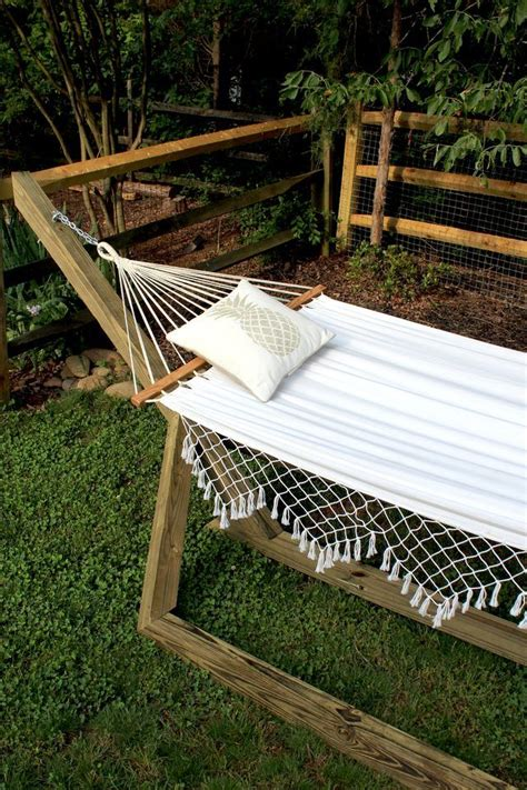 How To Make Your Own Hammock Stand by How To Make A Free Standing Hammock Stand Editors Picks