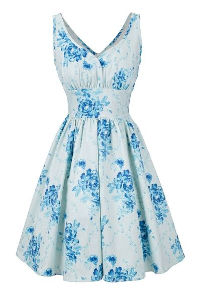 vintage floral pattern  neck sleeveless elegant midi fit