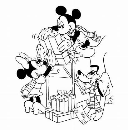 Mickey Mouse Friends Coloring Clubhouse Outline Head