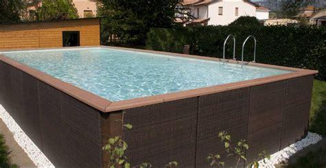 piscine hors sol acier enterree piscine acier rectangulaire hors sol mini piscine bois