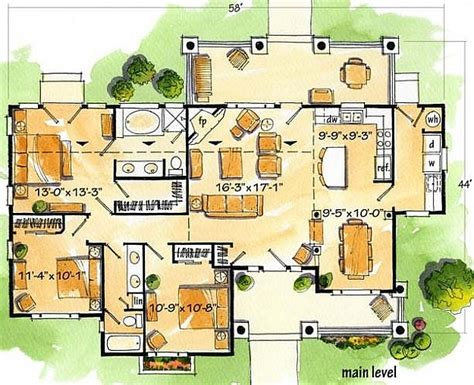 plan    bedroom  bath log home plan