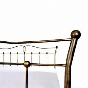 Metallbett 180x200 : liza ein romantisches eisenbett 180x200 cm im landhausstil ~ Pilothousefishingboats.com Haus und Dekorationen