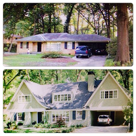 additions remodeling another amazing before and after of a ranch redo home