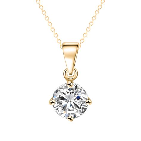 fashion geometry crystal zircon necklace luxury jewelry