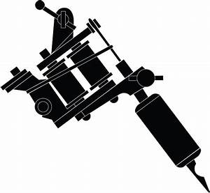 Gallery For > Tattoo Machine Drawing Vector | logo ...