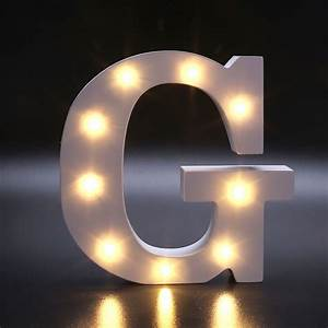 Creative 26 Letters LED Warm White Light Bedroom Wall ...
