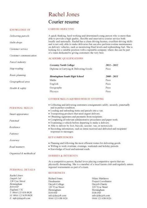 entry level resume templates cv sle exles