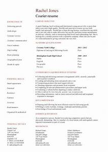 Driver Resume Example Student Entry Level Courier Resume Template