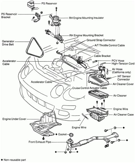 Toyotum 2 4 Engine Intake Manifold Diagram by 2000 Toyota Avalon Engine Diagram Automotive Parts