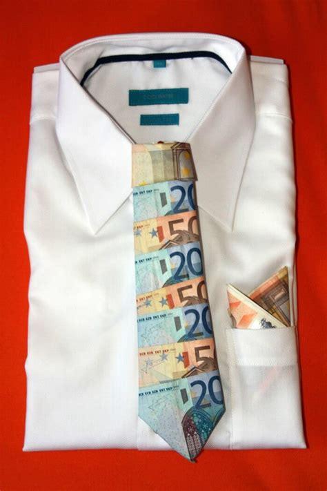 geldgeschenk zur hochzeit krawatte aus geld falten