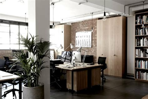 oak wood desk industrial style office inspired by a toolbox