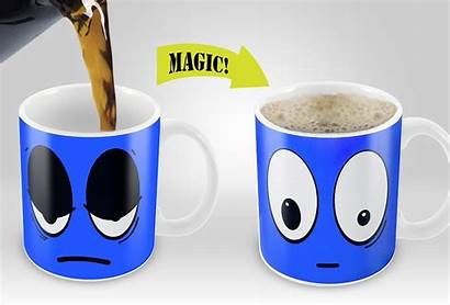 Mug Coffee Changing Heat Magic Sensitive Mugs