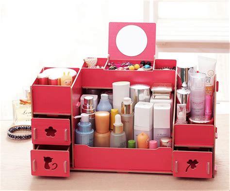 Rak Meja Kosmetik tempat makeup dari kayu makeup vidalondon