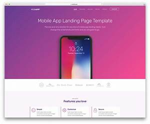 top 30 free one page website templates built with With free mobile site template download