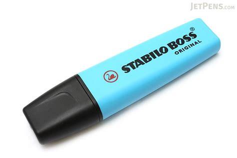 stabilo boss original highlighter blue jetpenscom
