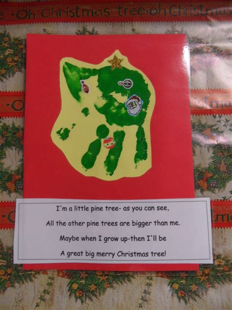 christmas tree handprint poem handprint learning to play and to learn