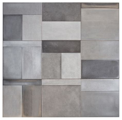 somertile 8x8 inch civic cement ceramic wall tile of