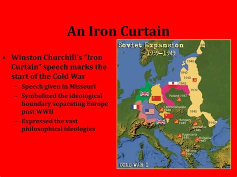 Iron Curtain Speech Cold War Definition by Ppt The Cold War Powerpoint Presentation Id 4124767