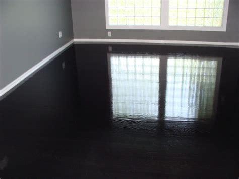 Ebony High gloss wood floors   Modern   Bedroom   Kansas