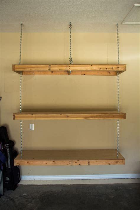 ceiling hanging shelf hanging garage shelves eye bolt in ceiling goes through