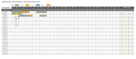 Time And Attendance Tracking Template by Free Human Resources Templates In Excel