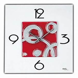 Horloge Murale Rouge : horloge noire moderne horloges ~ Teatrodelosmanantiales.com Idées de Décoration