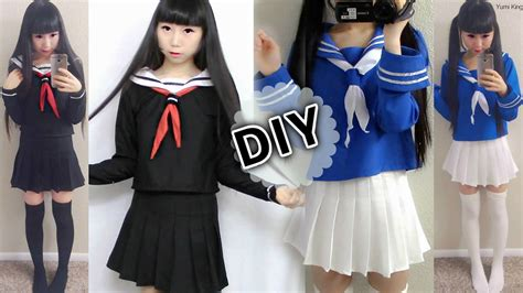 diy japanese anime school uniform diy easy long sleeve