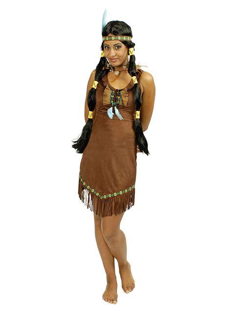 karneval kostüme indianer indianer kost 252 m f 252 r damen braun kost 252 me f 252 r erwachsene und g 252 nstige faschingskost 252 me vegaoo
