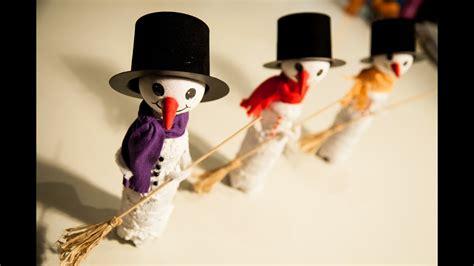 schneemann deko f 252 r weihnachten basteln