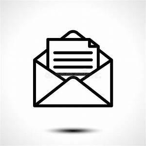 Open Envelope For Letter  Symbol Of Message  Mail  Email Or Business Document Icon Isolated On