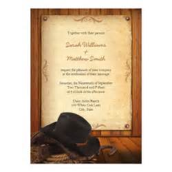 western wedding invitations country western wedding invitations