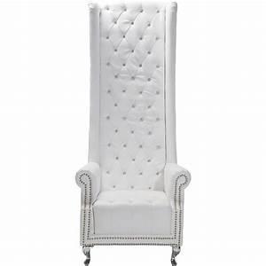 Fauteuil Design Blanc : fauteuil a haut dossier baroque blanc queen kare design ~ Teatrodelosmanantiales.com Idées de Décoration