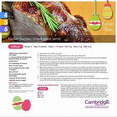 Easter Sunday Greek Roast Lamb (steps 4, 5 & 6)  Recipes On Cambridge Weight Plan Cambridge