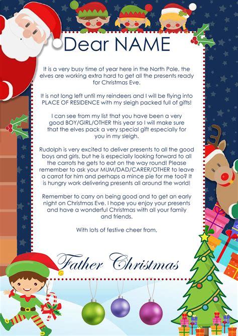 create  personalised christmas letter  santa