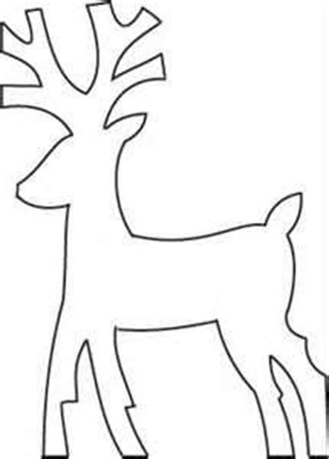 Reindeer Cut Out Template by 1000 Images About On Snowflake