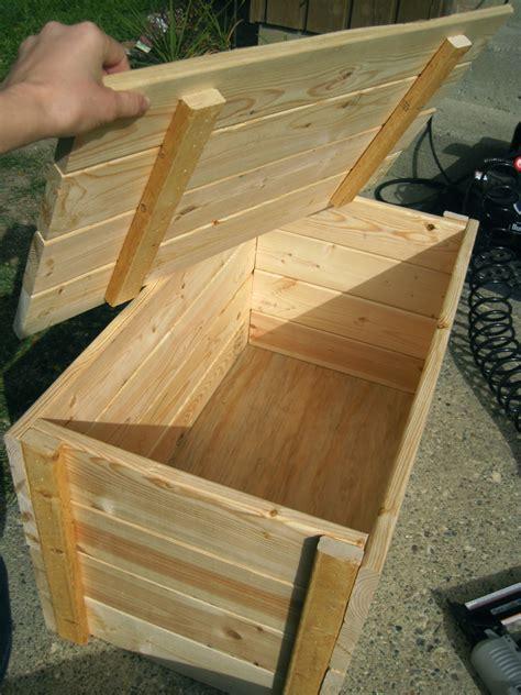 woodwork wood storage box plan  plans
